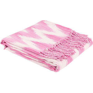 It's pink. It's got a cool print on it. Ikat Blanket, Zara Home, £29.99