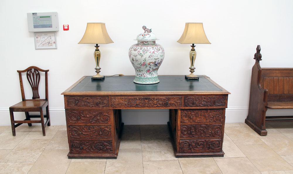 Antique carved desk