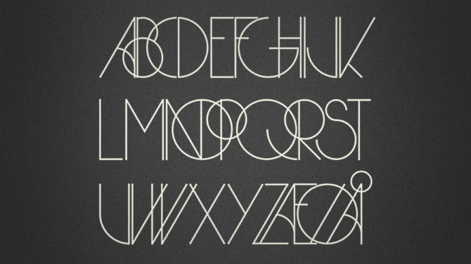 A modern take on Art Deco typography - Herbie font by Infamous Foundry