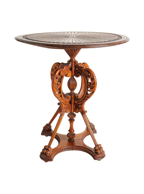 Aesthetic Period Fruitwood Center Table