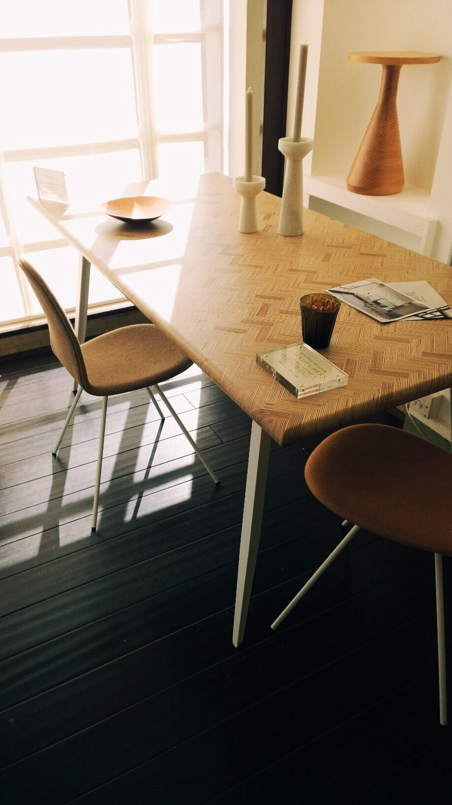 table made from plywood
