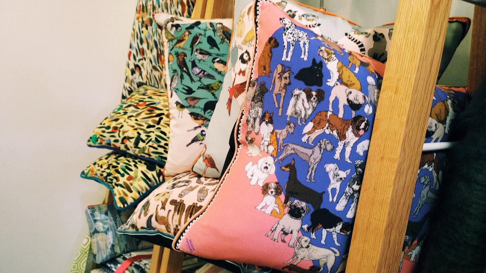 dog printed cushion