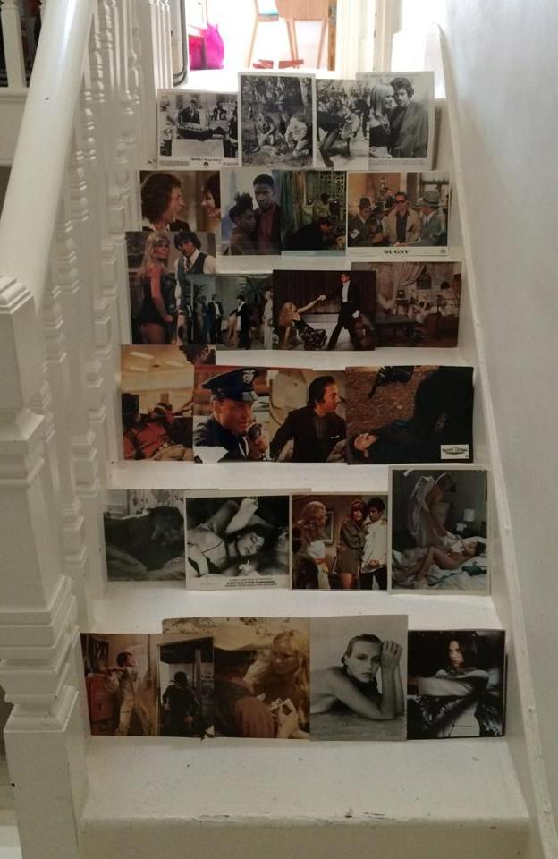 DIY vintage photo stairs