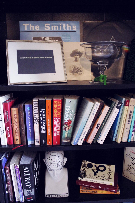 bookshelves vignette