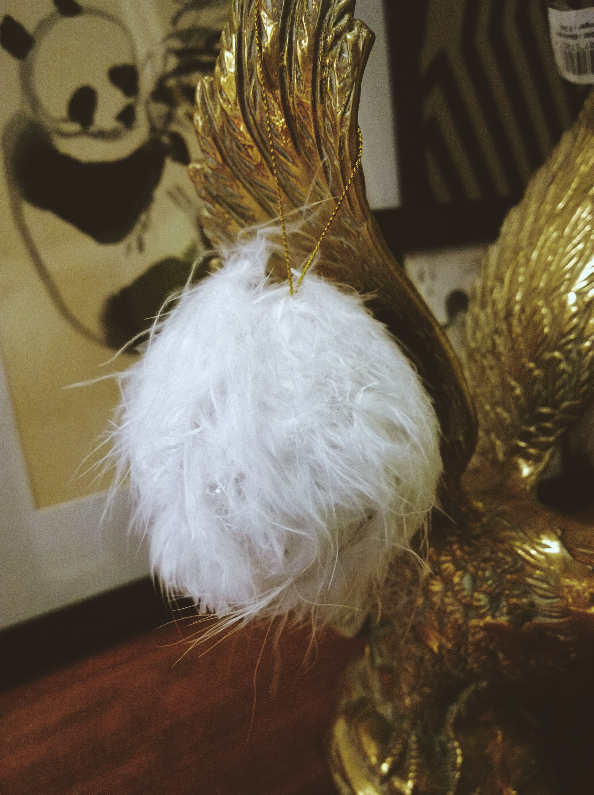 DIY feather bauble