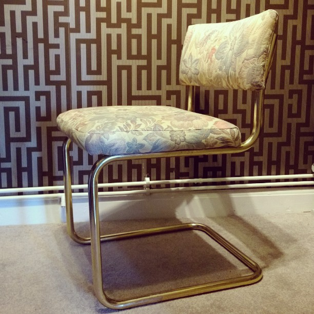 vintage brass dining chairs