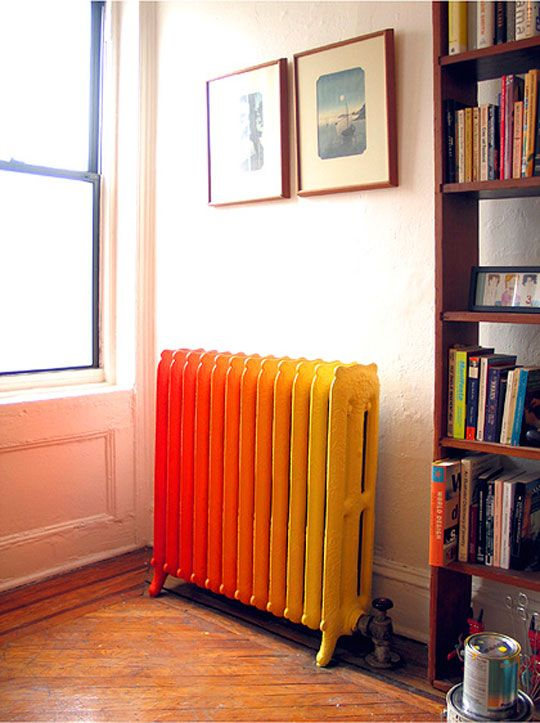 painted coloured radiator