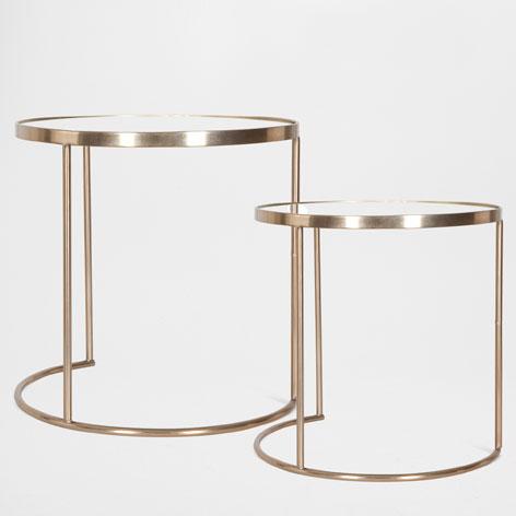 brass side tables
