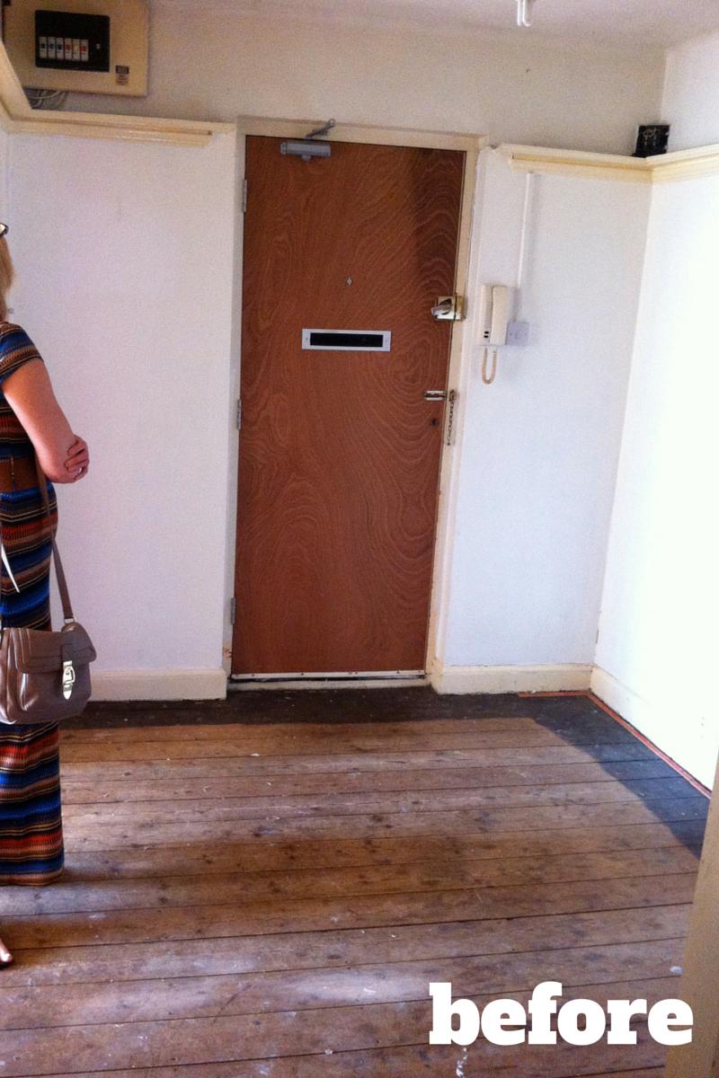 hallways before after makeover