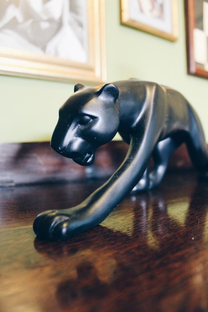 art deco panther