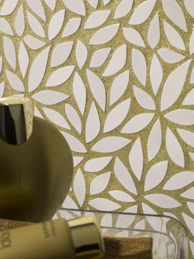 gold glitter grout