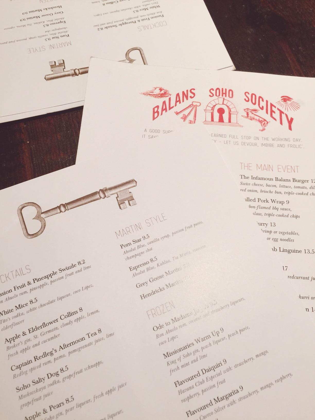 balans menu