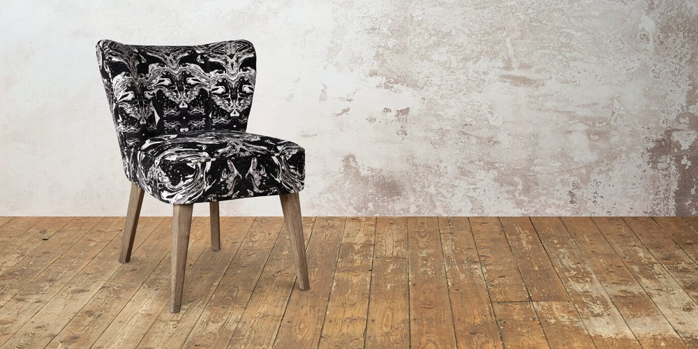patterned cocktail chair