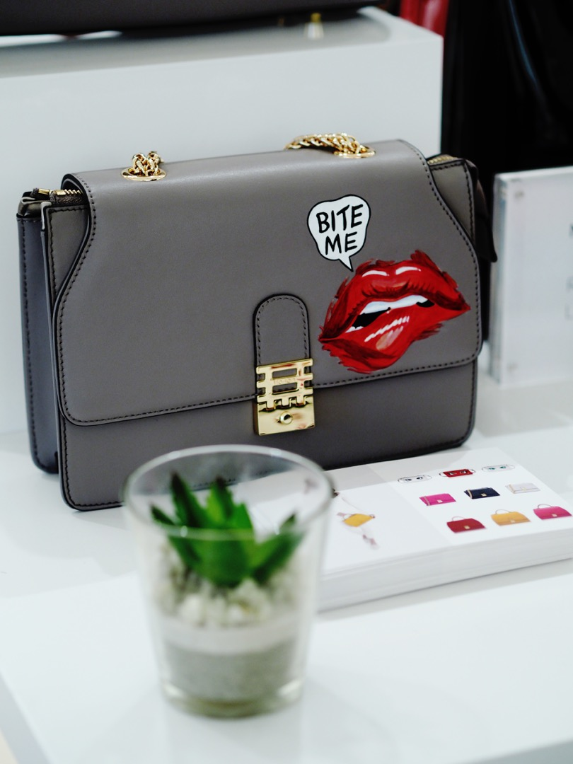 handpainted custom handbag