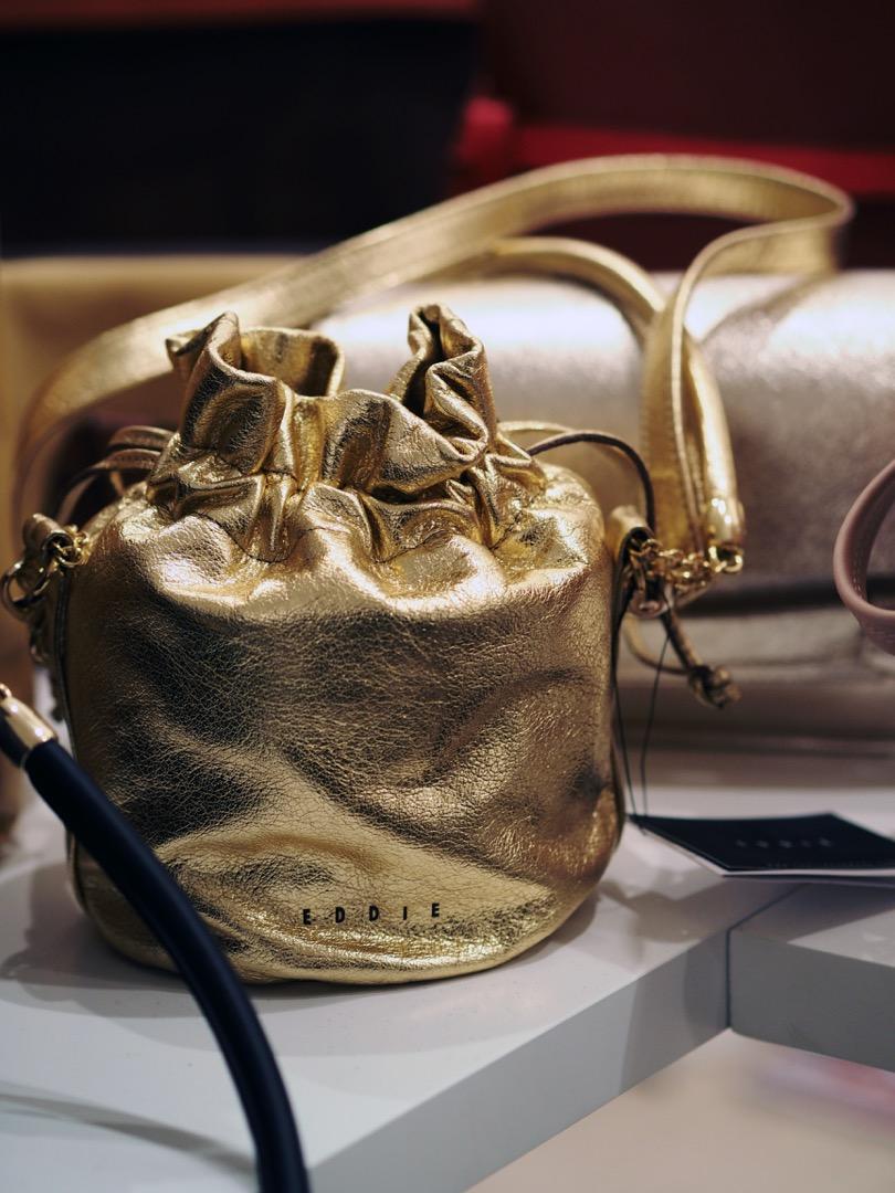 metallic gold bag