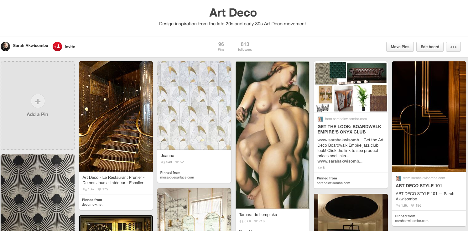 art deco pinterest