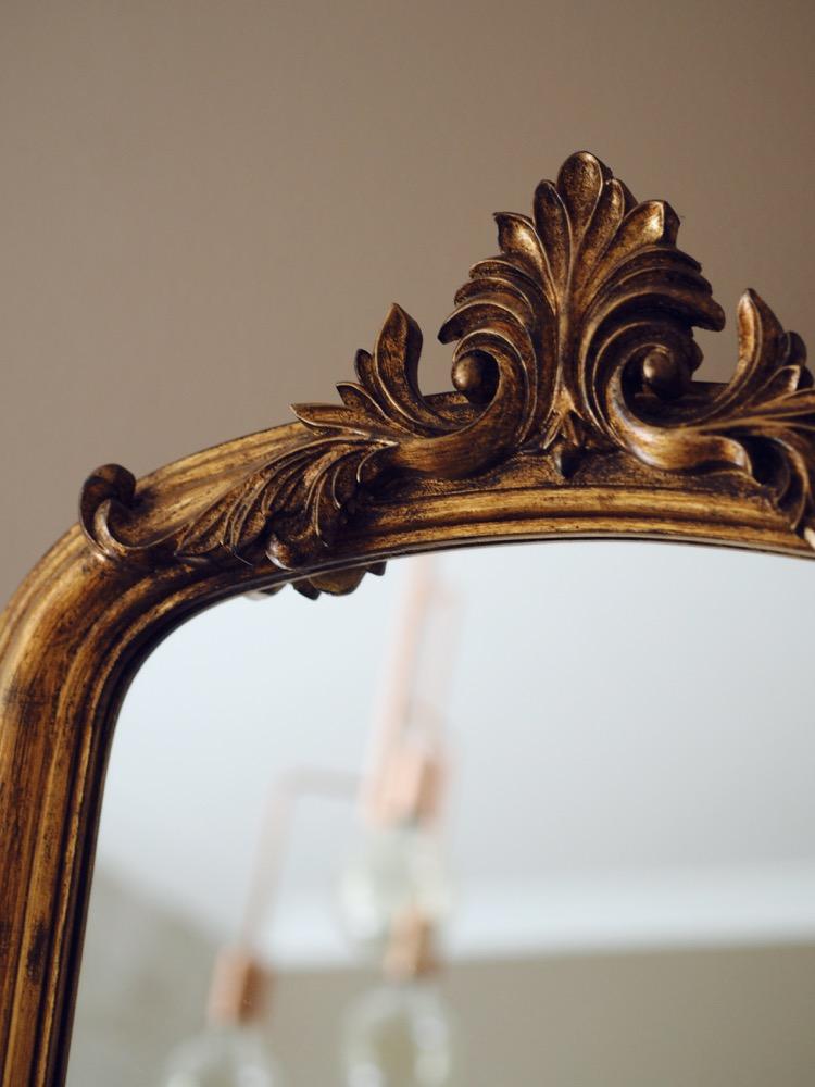 free standing gilt mirror