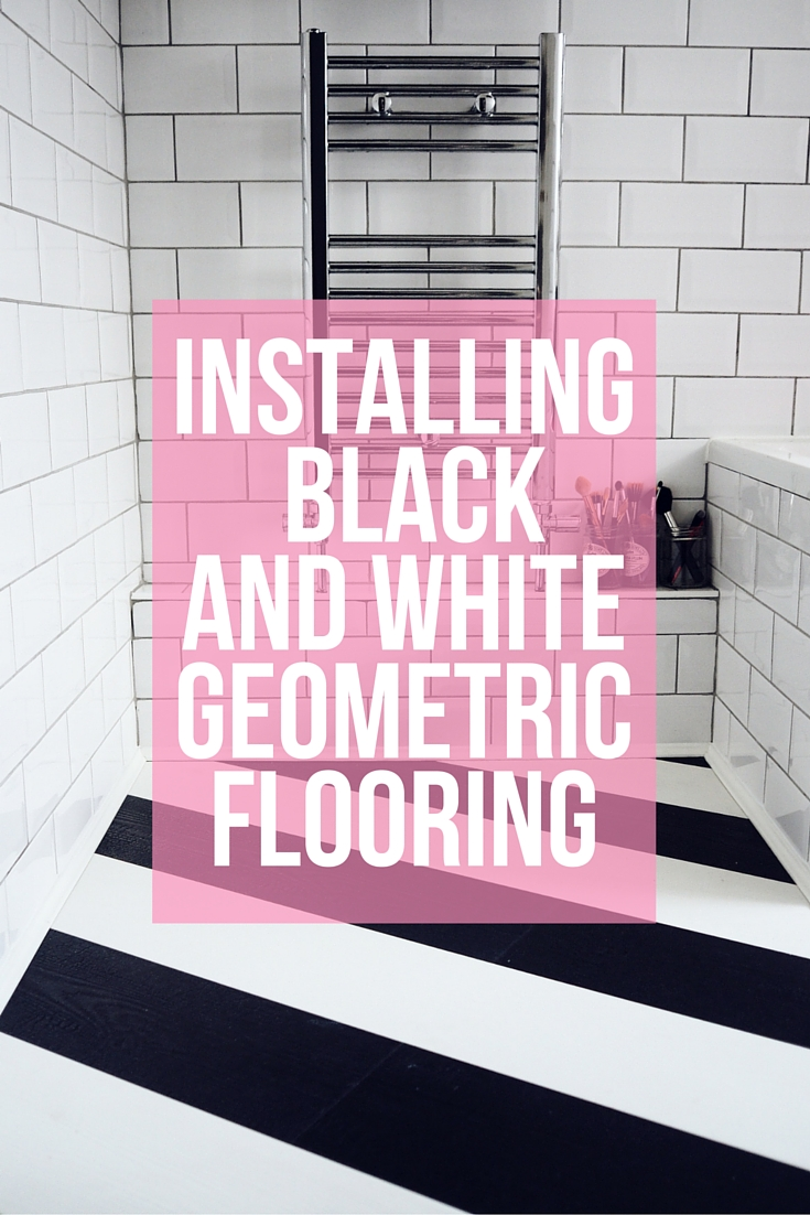 Recently I had a laminate quick-step black and white geometric floor laid in my kitchen and bathroom. The planks go on the diagonal which adds drama and makes a real statement!
