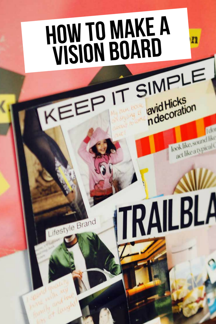 In this easy tutorial I'm showing you how to create a vision board with a difference!