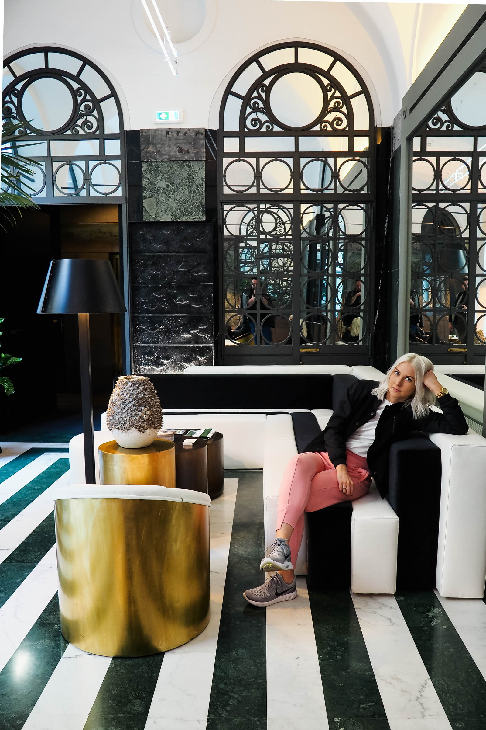 SARAH akwisombe at the Senato Hotel milan