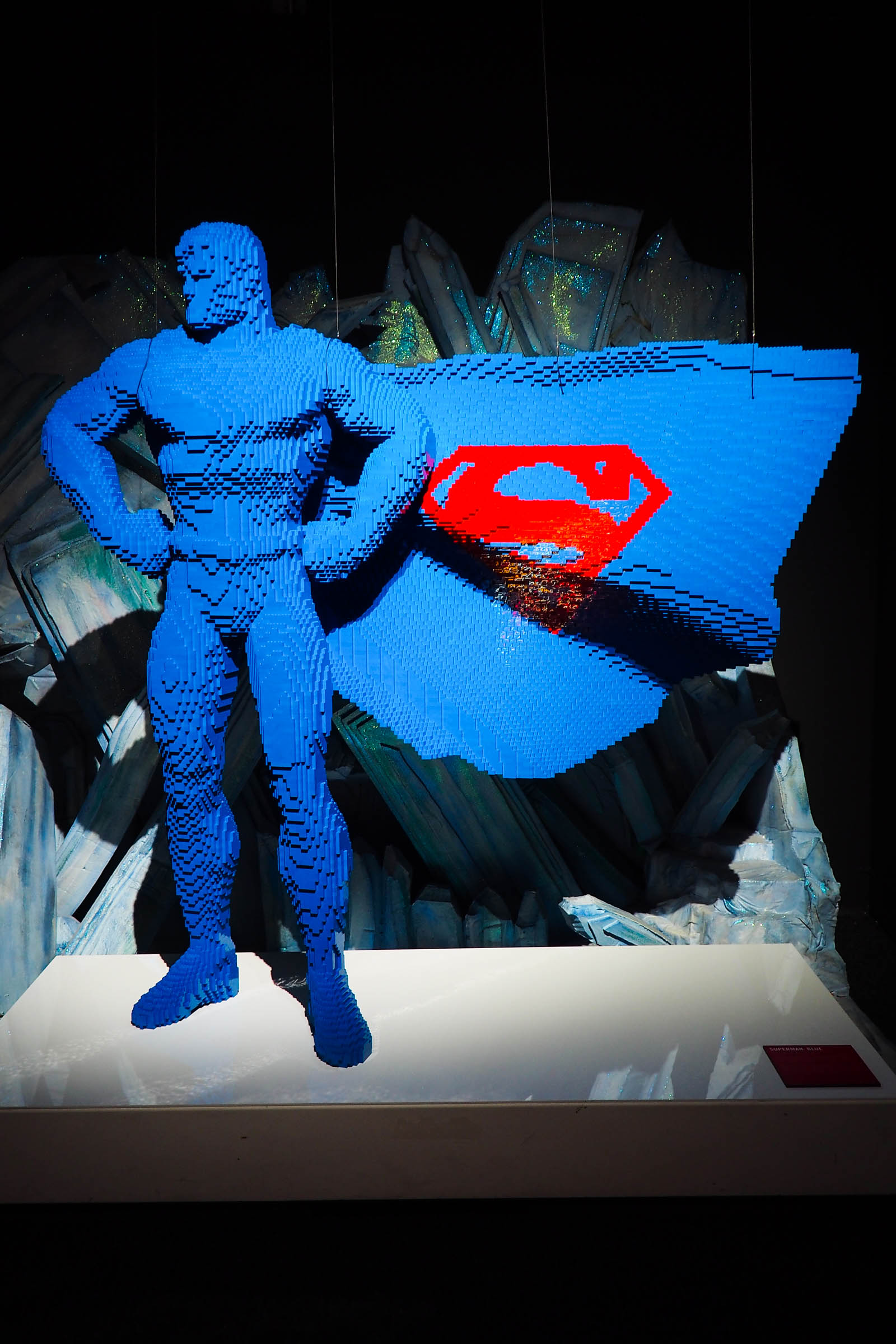 I took my family to visit the Art Of The Brick lego exhibition of DC comic characters on London's Southbank.