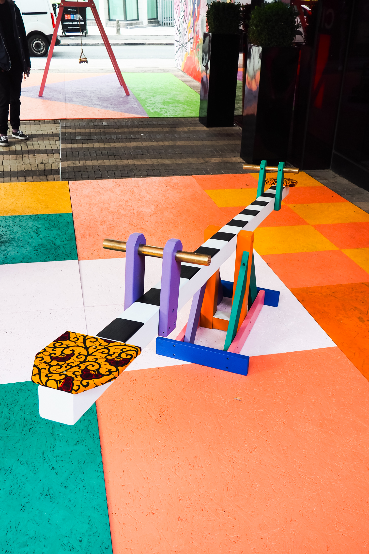 12. estate playground - Yinka Ilori added a splash of childlike colour to the entrance of the Citizen M hotel