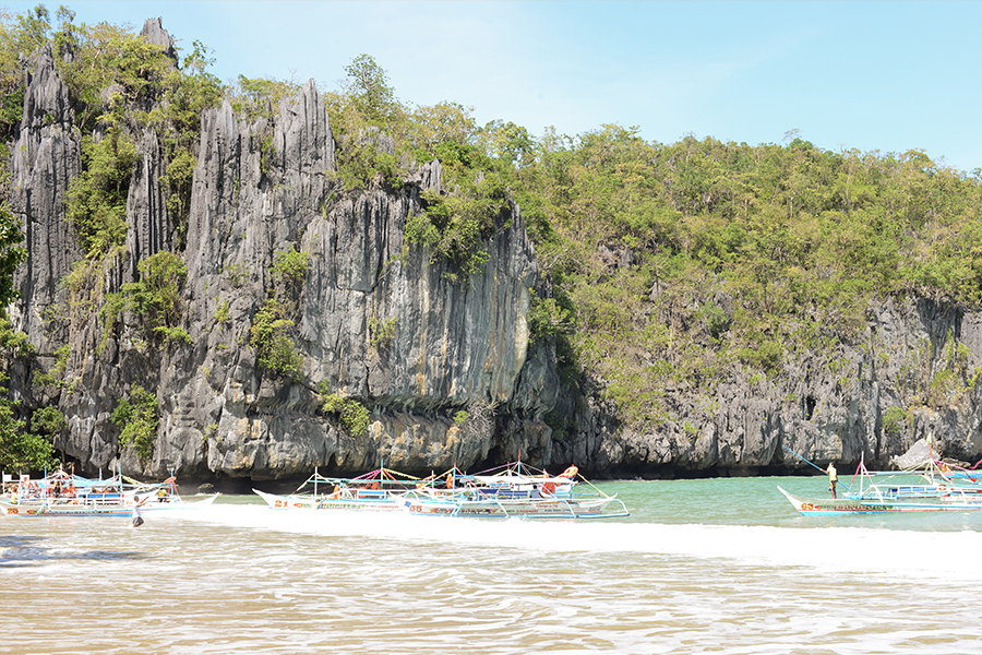 palawan philippines underground river ocean boats