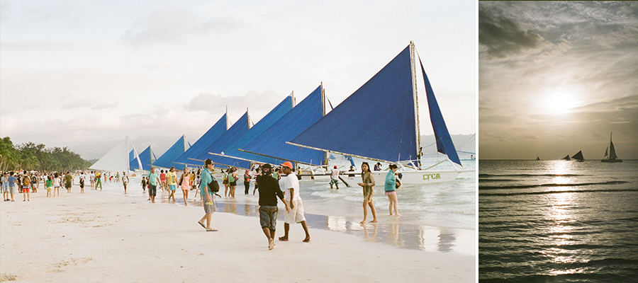 boracay philippines beach travel washington dc photographer film sailboats sunset