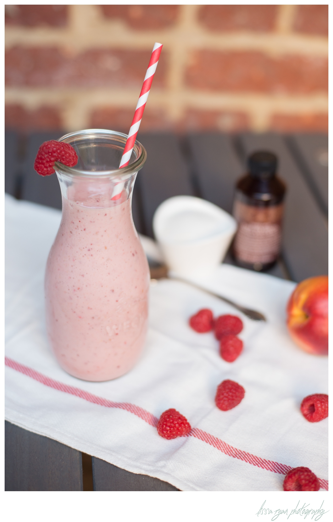 raspberry nectarine smoothie summer fruit washington dc photographer lissa ryan photography