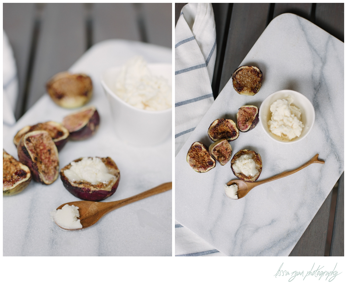 grilled figs with mascarpone Lissa Ryan Photography washington dc food photographer