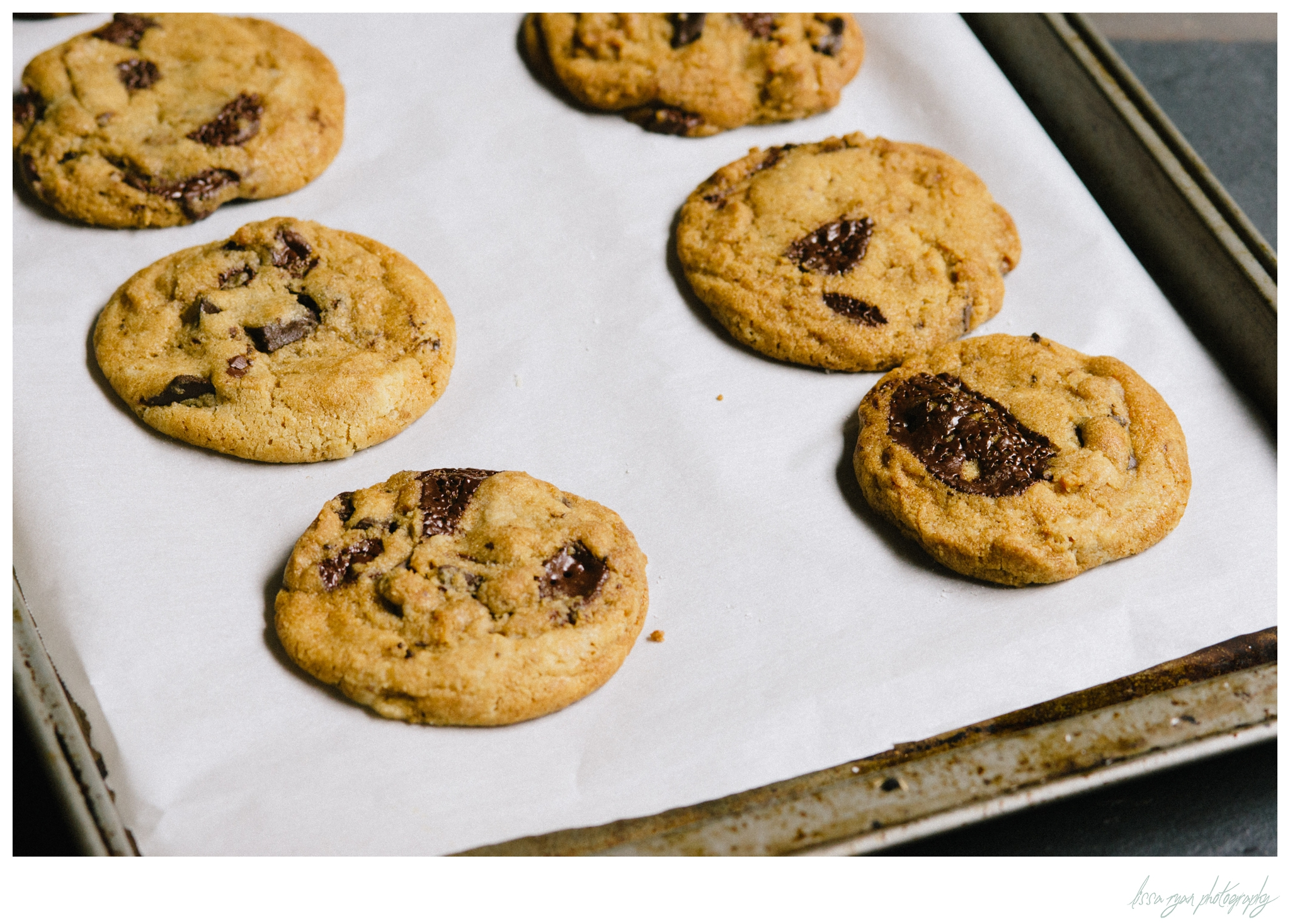 brown butter chocolate chip cookies recipe food photography lissa ryan photography