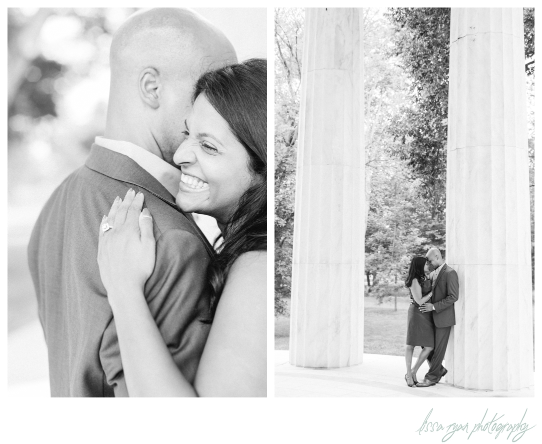 washington dc memorials engagement photographer lissa ryan photography