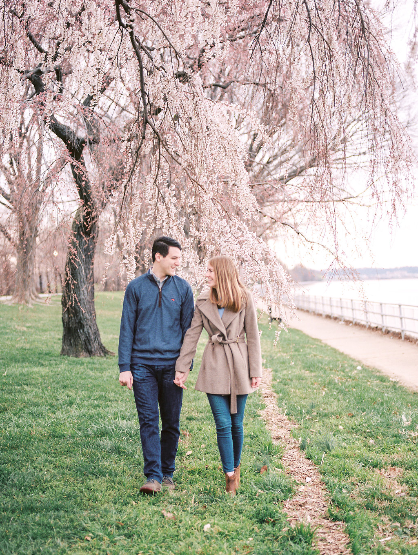 cherry blossom engagement photos washington dc fine art wedding photographer lissa ryan photography