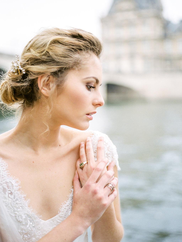 fine art bridal inspiration on film in paris destination wedding photographer lissa ryan photography