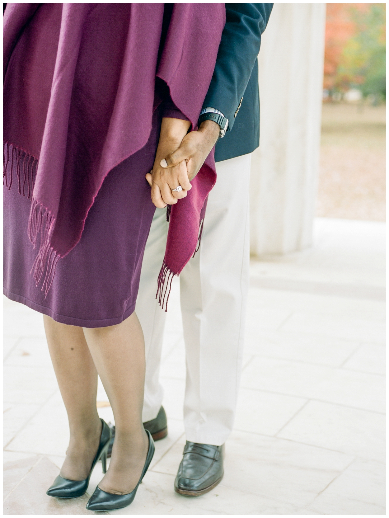 fall washington dc engagement session by fine art film wedding photographer Lissa Ryan Photography