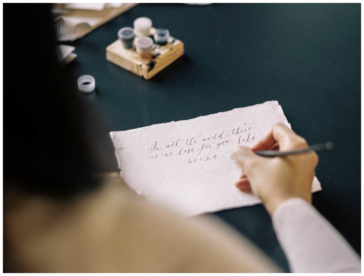 spurle gul studios calligrapher small business branding and headshot session by washington dc photographer Lissa Ryan Photography