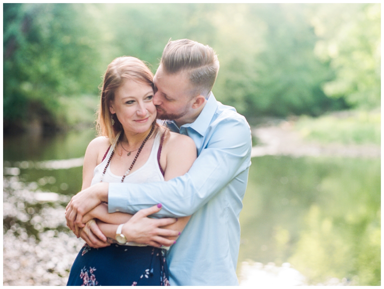 riverside sunrise couple's session in washington dc by fine art wedding photographer Lissa Ryan Photography