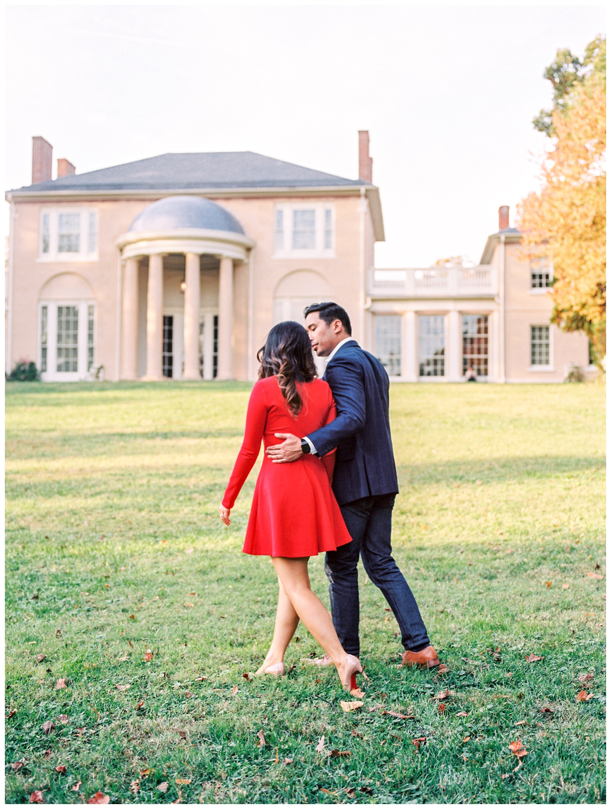 Fall engagement session at Tudor Place in Georgetown Washington, DC by fine art wedding photographer Lissa Ryan Photography