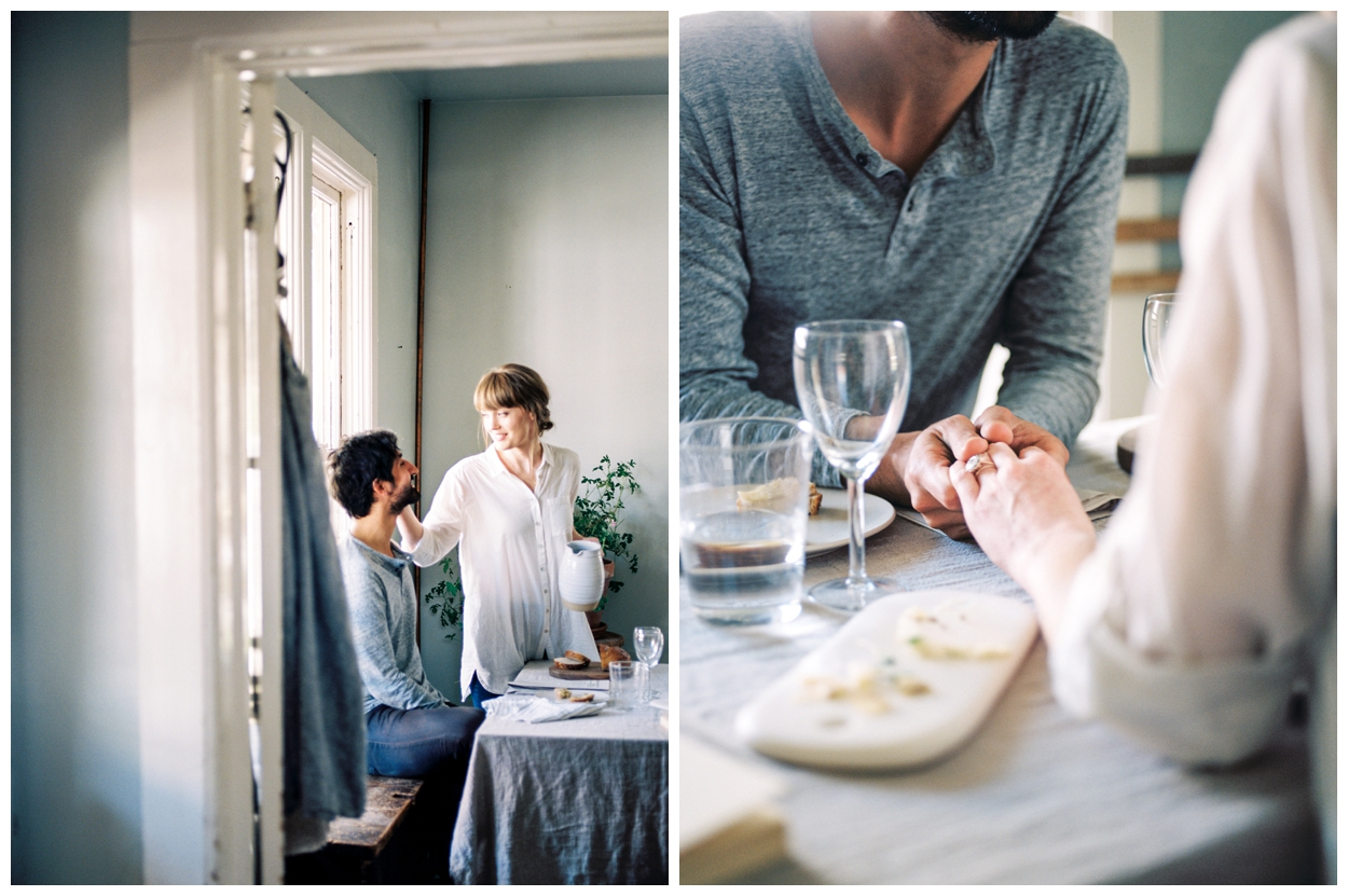 Cozy lifestyle session with couple cooking in the kitchen from LOOM Curated by fine art photographer Lissa Ryan Photography