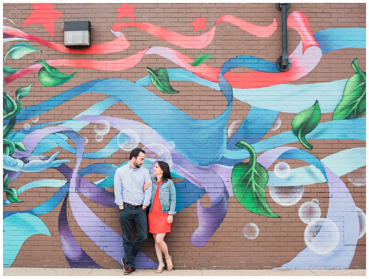 Spring engagement session in Eastern Market in Washington DC by fine art wedding photographer Lissa Ryan Photography