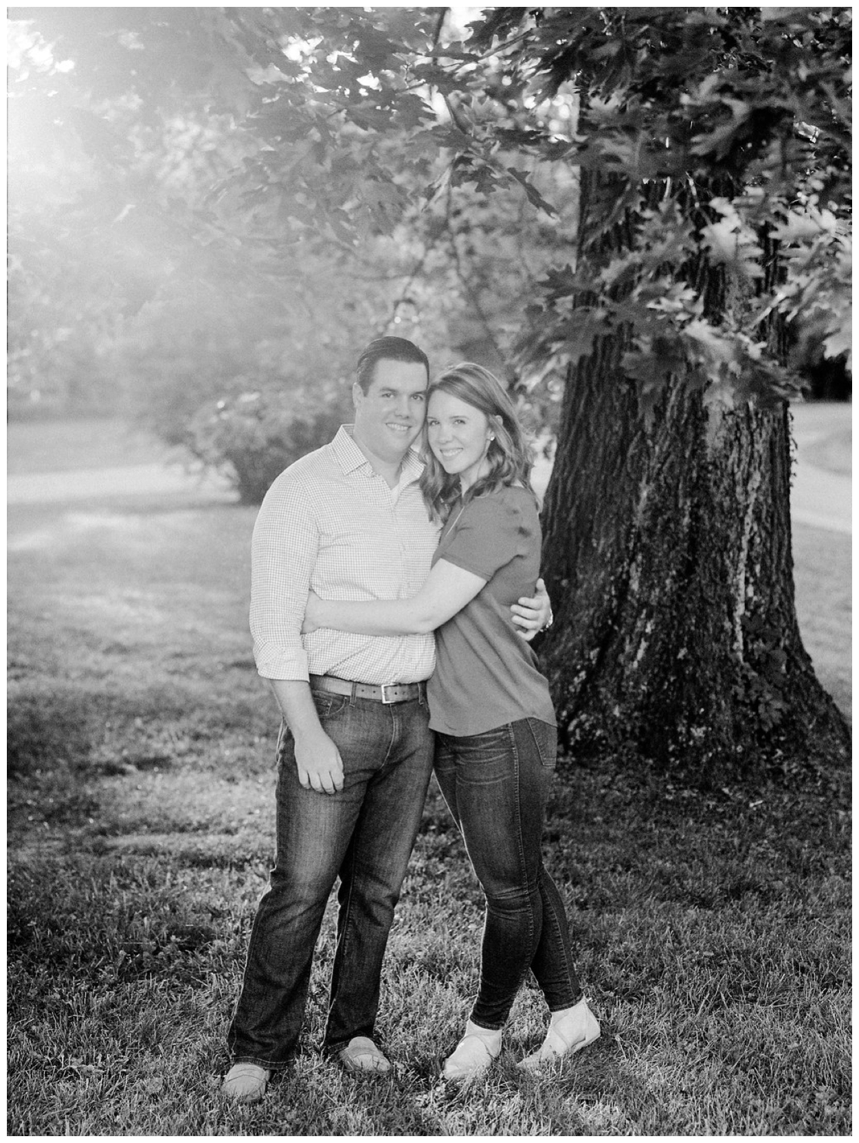 Spring engagement session at the Oatlands Historic Home in Leesburg Virginia by fine art wedding photographer Lissa Ryan Photography