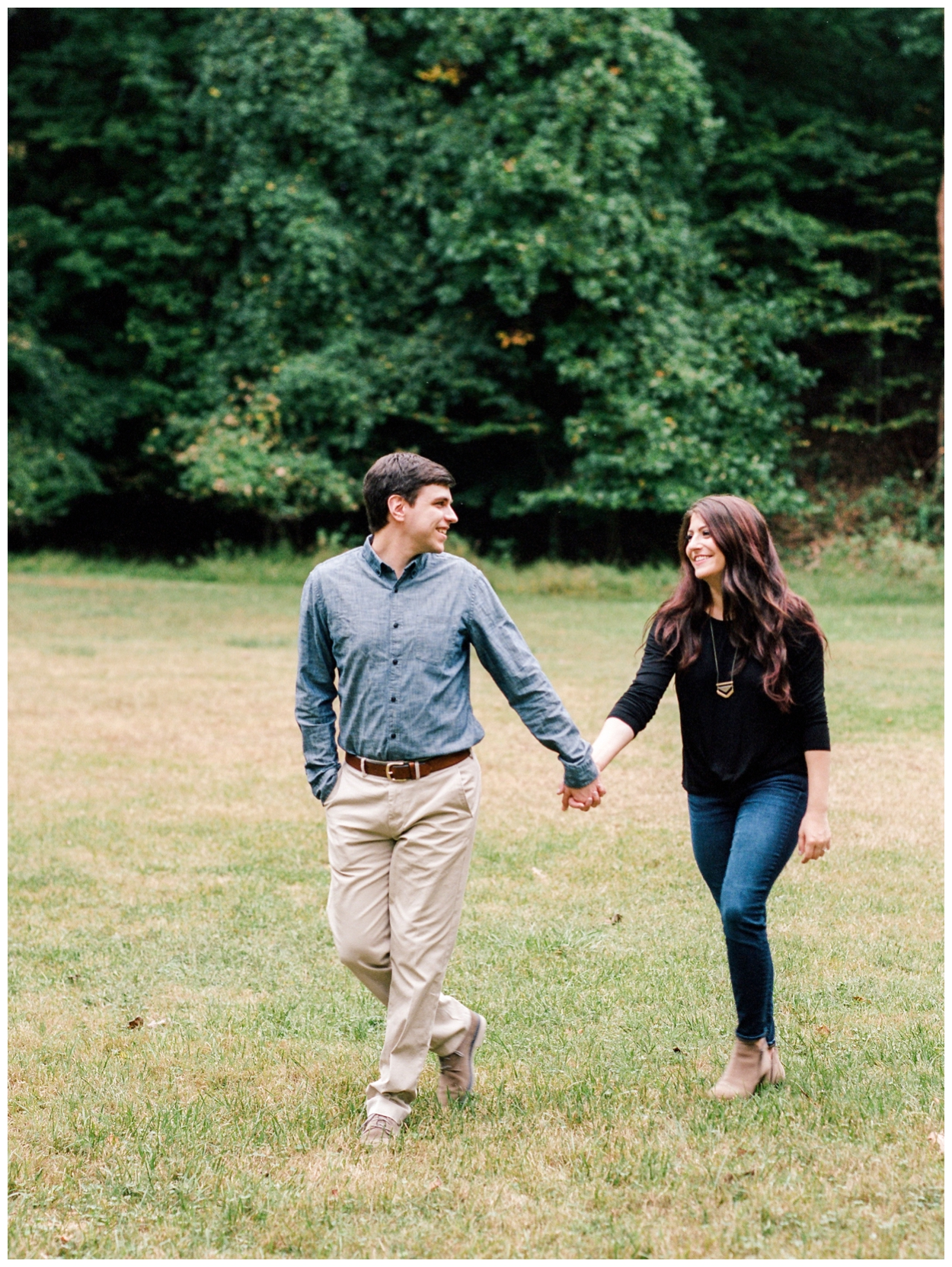 Rainy fall engagement session in Georgetown, Washington DC by fine art wedding photographer Lissa Ryan Photography