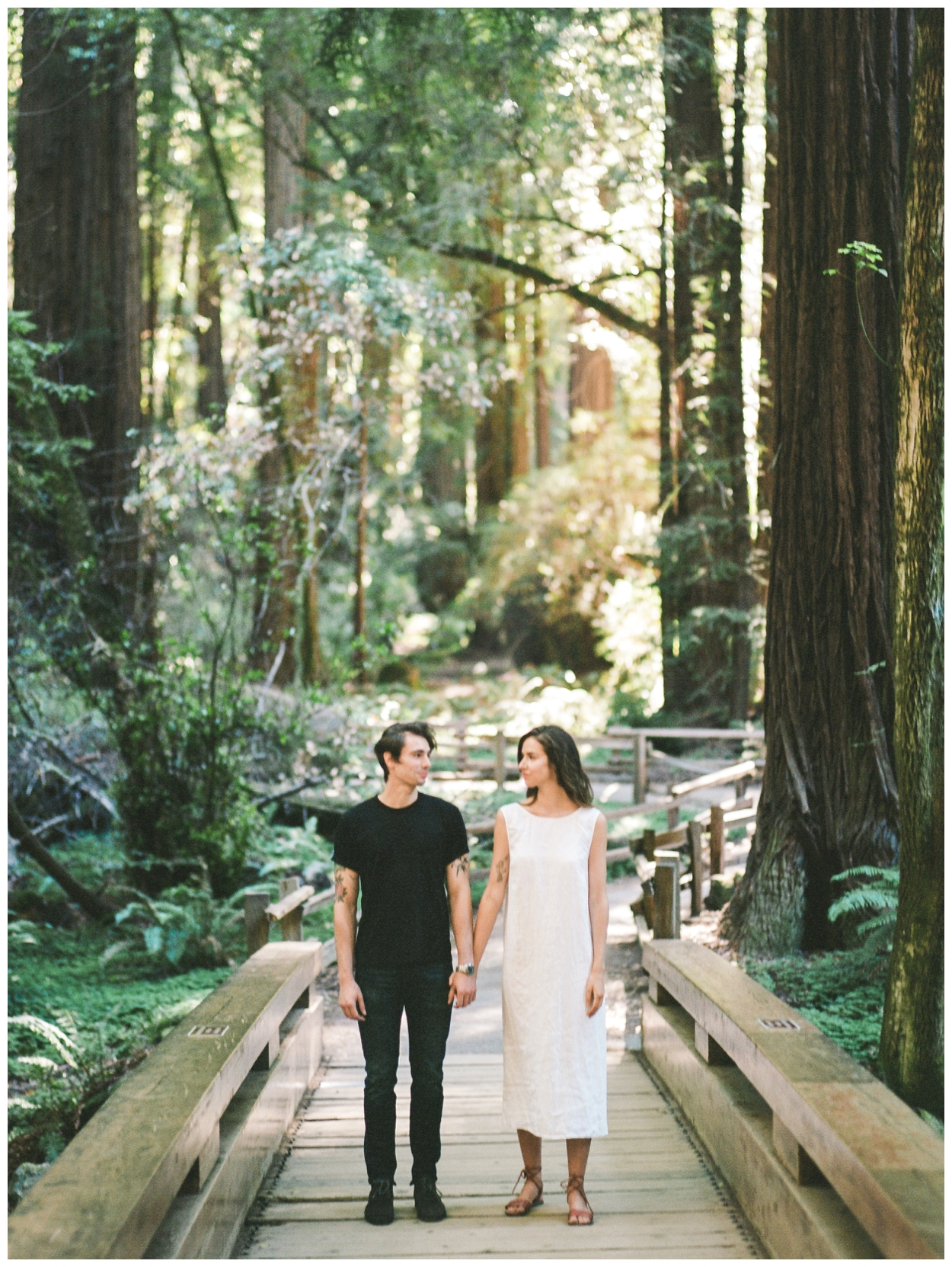 Muir Woods in California Engagement session on film by fine art wedding photographer Lissa Ryan Photography
