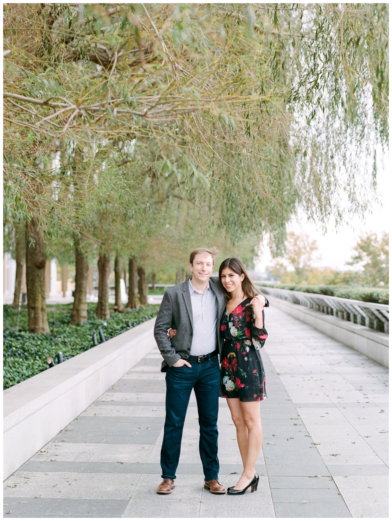 Fall engagement session at the Kennedy Center in Washington DC by fine art wedding photographer Lissa Ryan Photography