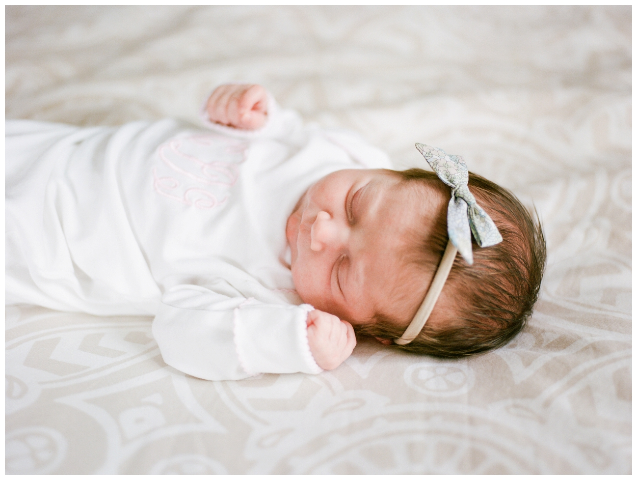 fine art newborn session on film by washington dc family and baby photographer Lissa Ryan Photography