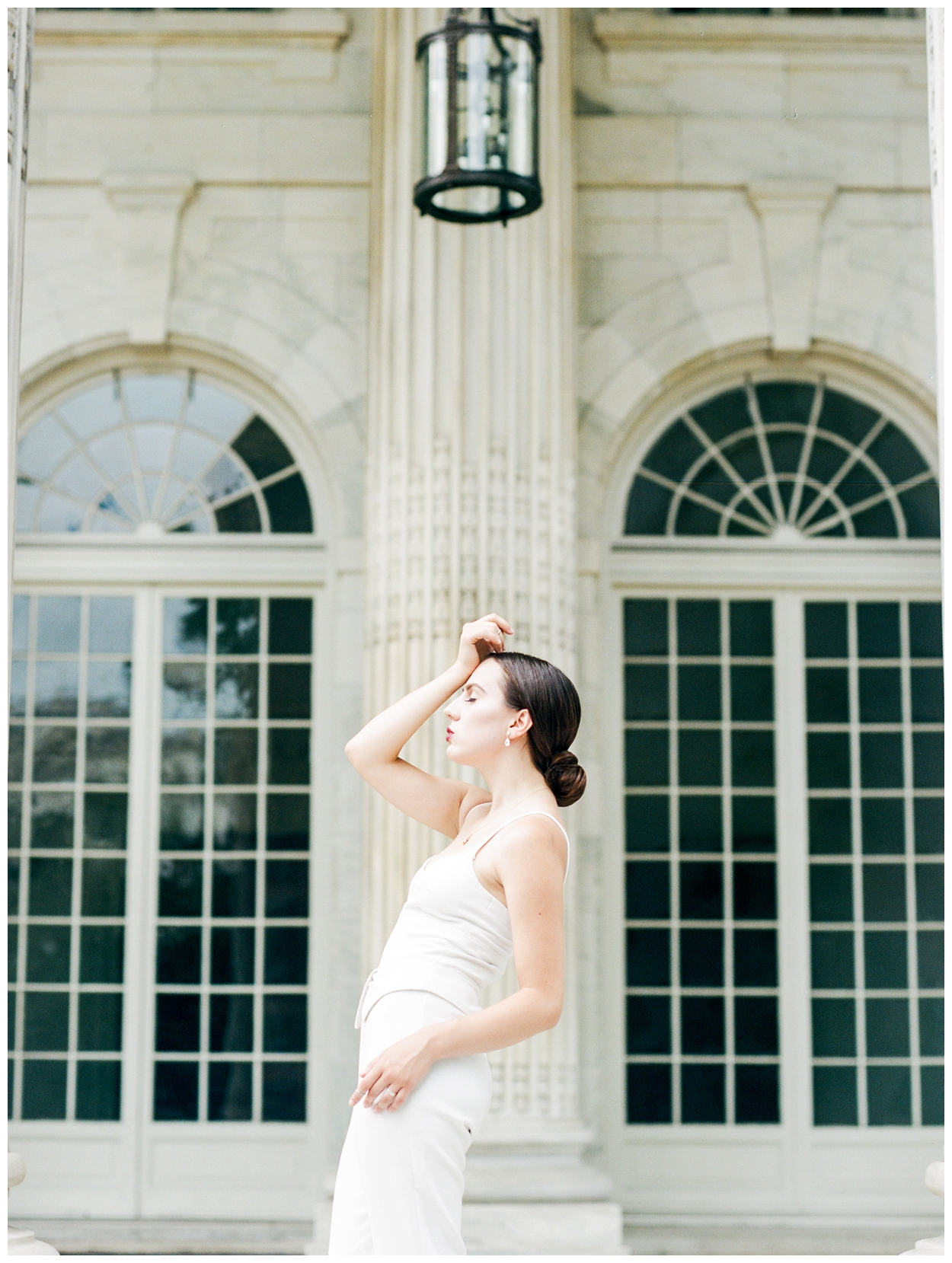 modern bridal editorial with bridal jumpsuit at DAR in washington dc by fine art wedding photographer Lissa Ryan Photography