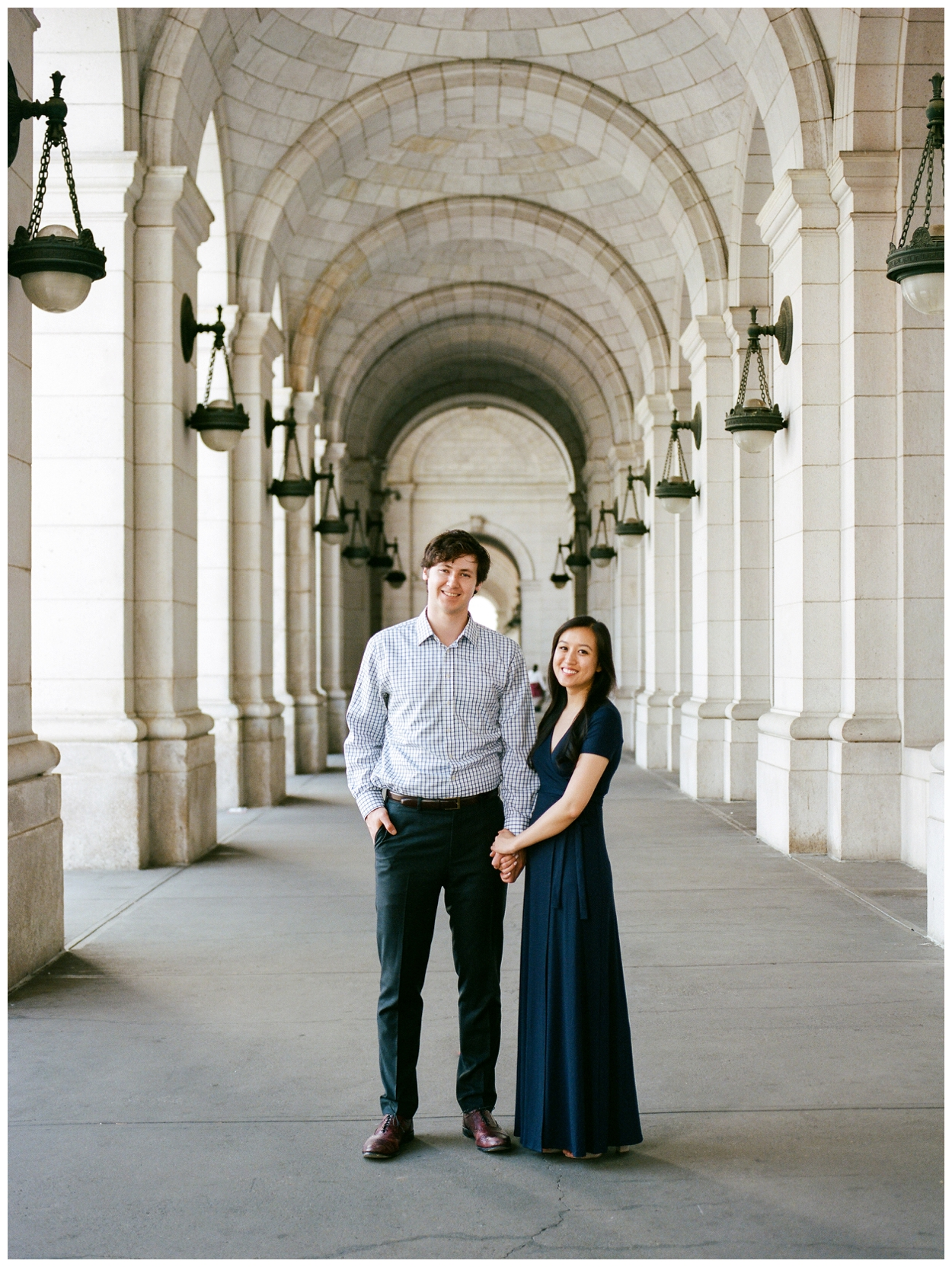 Sweet engagement session at Union Station in Washington DC by fine art wedding photographer Lissa Ryan Photography