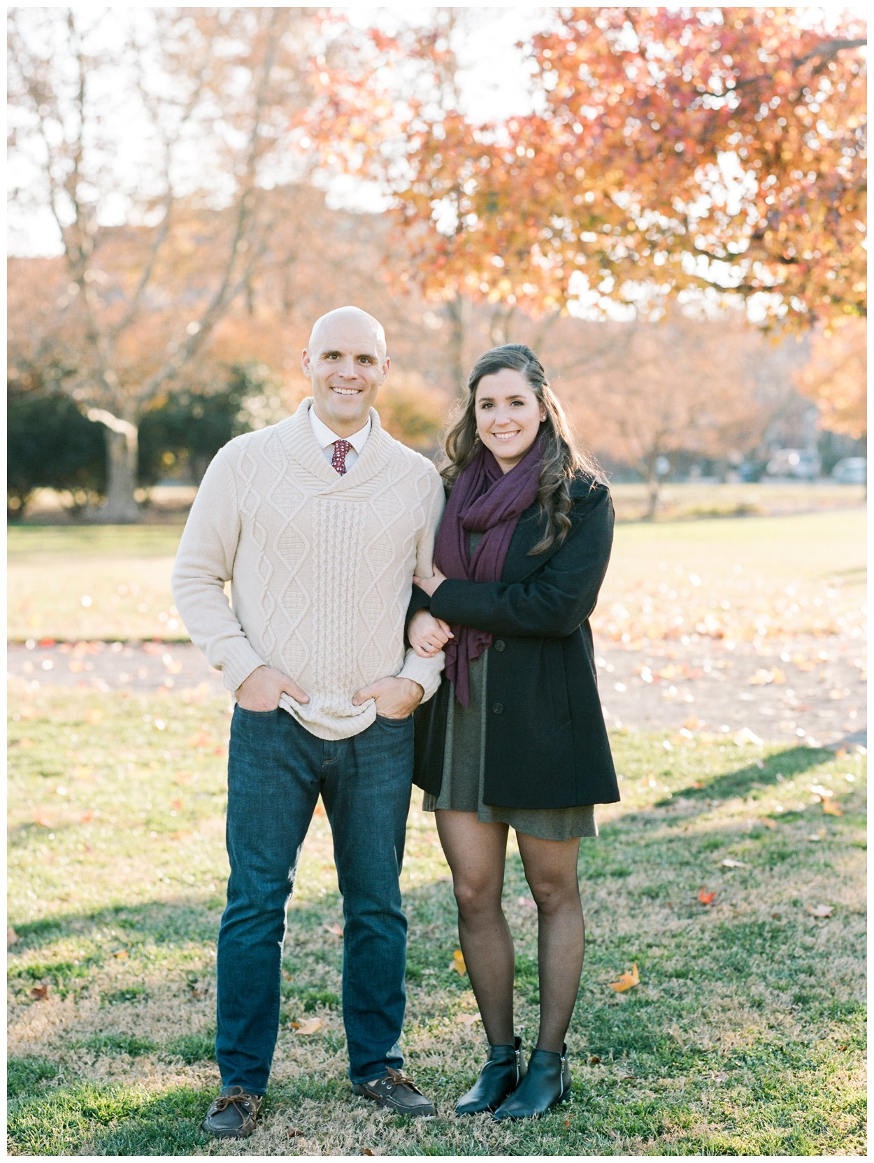 Fall / Winter engagement session in Old Town Alexandria Virginia by fine art wedding photographer Lissa Ryan Photography