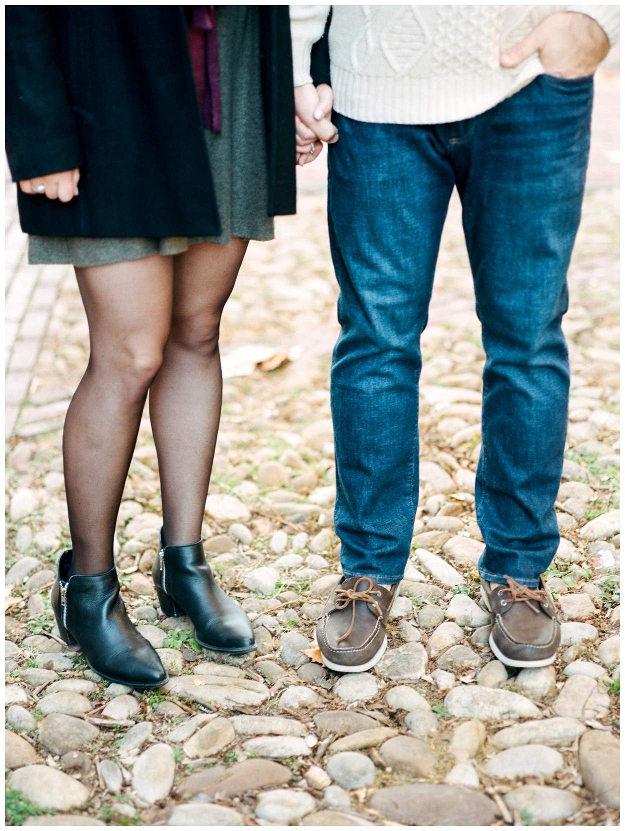 Winter engagement session in Old Town Alexandria Virginia by fine art wedding photographer Lissa Ryan Photography