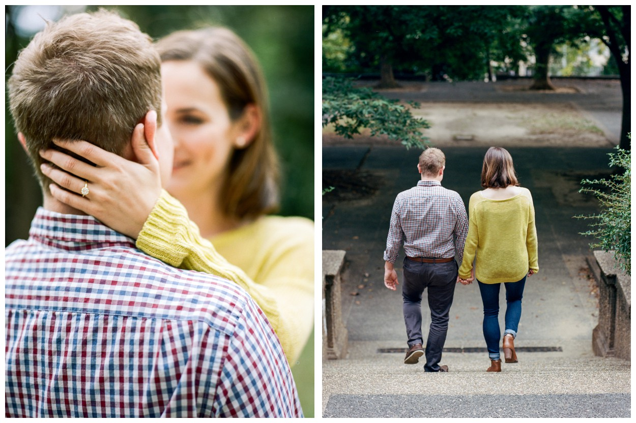 Fall engagement session in Meridian Hill Park and U St. in Washington DC by fine art wedding photographer Lissa Ryan Photography